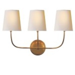 3 Light Wall Sconce Light Fixture with Antique Bronze Finish
