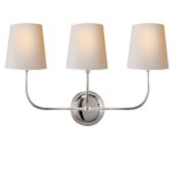 3 Light Wall Sconce Light Fixture with Polished Nickel Finish
