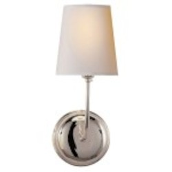 3 Light Wall Sconce Light Fixture in Polished Nickel Finish