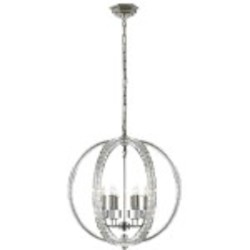 6 Light Pendant Light Fixture with Polished Nickel Finish