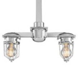 Crystal Cube 1 Light Wall Sconce Light Fixture with Polished Nickel Finish - Restoration Revolution 700161-002