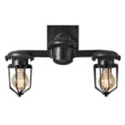 Metropolitan Railway 2 Light Wall Sconce Light Fixture with Black Finish - Restoration Revolution 700164-001