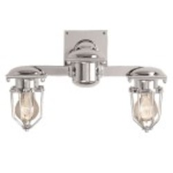 Metropolitan Railway 2 Light Wall Sconce Light Fixture with Polished Nickel Finish - Restoration Revolution 700164-002