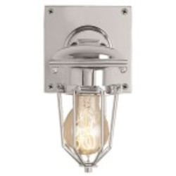 Metropolitan Railway 1 Light Wall Sconce Light Fixture with Polished Nickel Finish - Restoration Revolution 700165-002
