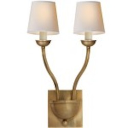 Ziyi Collection 2 Light Burnished Brass Wall Sconce Light Fixture - Restoration Revolution 700178-001