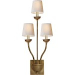 3  Light Burnished Brass Wall Sconce