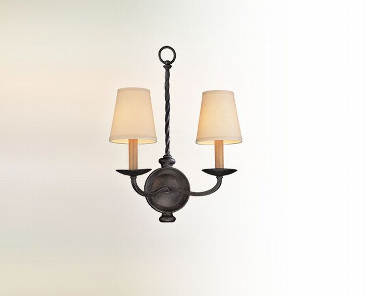 Iron Wall Sconces Lighting : Alexander Collection 2-Light 13