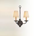"Alexander Collection 2-Light 13"" English Iron Wall Sconce B2661"