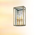 Two Light Gold Silver Leaf Outdoor Wall Light