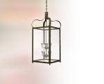 "Bradford Collection 8-Light 25"" Charred Iron Hanging Lantern F8923CI"