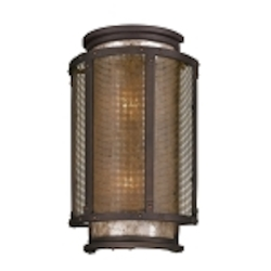 "Copper Mountain Collection 2-Light 18"" Bronze Indoor/Outdoor Wall Sconce B3273"