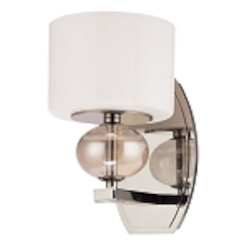 One Light Polished Nickel Bathroom Sconce