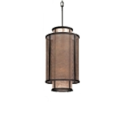"Copper Mountain Collection 8-Light 32"" Bronze Mica Pendant F3103"