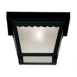 One Light Black Frosted Glass Outdoor Flush Mount - Savoy House 07044-BLK