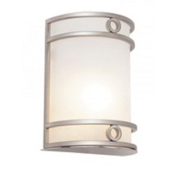 One Light White Frosted Glass Wall Light - Trans Globe MDN-1032 WH