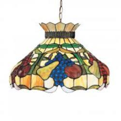 Bronze Floral 1 Light Pendant With Glass Shade