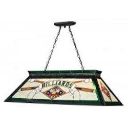 Matte Black Tiffany Billiard Four-Light Island / Billiard Fixture Pendant