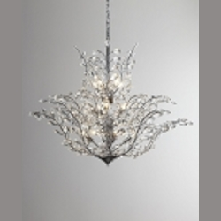 "Branch of Light Design 18-Light 40"" Chrome Chandelier with European or Swarovski Crystals SKU# 10636"