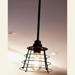 "Urban Renewal Collection 1-Light 7"" Dark Bronze Mini Pendant P1252DBZ"