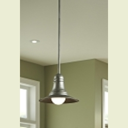 "Urban Renewal Collection 1-Light 9"" Antique Pewter Mini Pendant P1237AP"