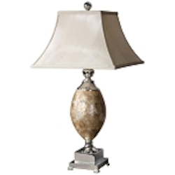 "Uttermost 1-Light 32"" Mother of Pearl Trophy Table Lamp 26981"
