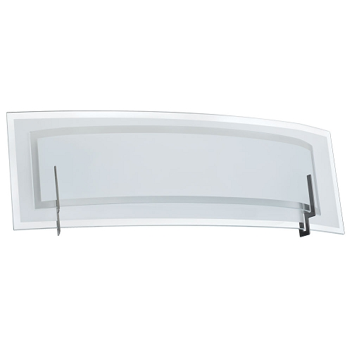 Vanity Light Curved Glass : Dainolite 2-Light 22