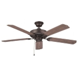 "All-Weather Collection 52"" Aged Bronze Ceiling Fan with Weathered Oak ABS Blades WOD52ABZ5X"