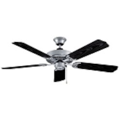 "All-Weather Collection 52"" Galvanized Ceiling Fan with Black ABS Blades WOD52GV5X"