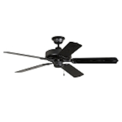 "All-Weather Collection 52"" Matte Black Outdoor Ceiling Fan with Matte Black Blades WOD52MBK5X"