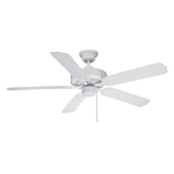 "All-Weather Collection 52"" White Ceiling Fan with White ABS Blades WOD52WW5X"