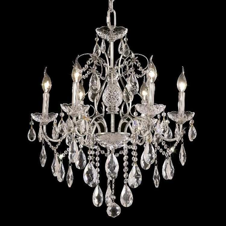 St Francis Collection 6 Light 24 Chrome Chandelier With Clear Swarovski Strass Crystal 2016d24c Ss