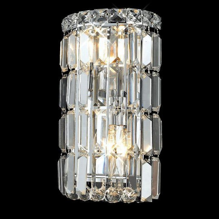 Chrome Crystal Wall Lights : Maxim Collection 2-Light 6