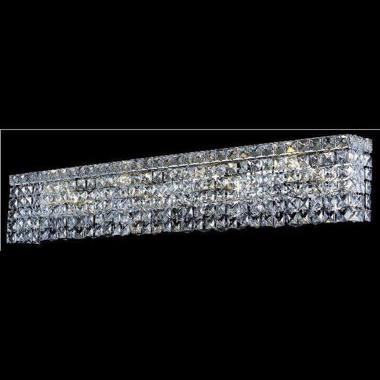 Cut Glass Vanity Light : Maxim Collection 8-Light 36