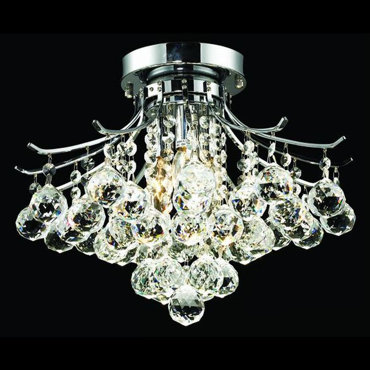 Toureg Collection 3 Light 16 Quot Chrome Semi Flush Mount With