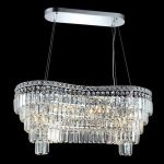 "Maxim Collection 14-Light 16"" Chrome Island Light with Clear Elegant Cut Crystal 2019D32C/EC"