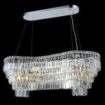 "Maxim Collection 14-Light 16"" Chrome Island Light with Clear  Swarovski Strass Crystal 2019D40C/SS"