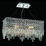 "Maxim Collection 4-Light 10"" Chrome Island Light with Clear Elegant Cut Crystal 2035D20C/EC"