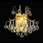 "Toureg Collection 3-Light 16"" Gold Wall Sconce with Clear Swarovski Spectra Crystal 8000W16G/SA"