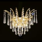 "Victoria Collection 3-Light 16"" Gold Wall Sconce with Clear Swarovski Spectra Crystal 8032W16G/SA"