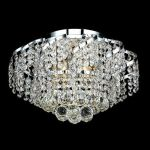 "Belenus Collection 6-Light 16"" Chrome Semi Flush Mount with Clear Royal Cut Crystal ECA1F16C/RC"