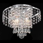 "Belenus Collection 2-Light 12"" Chrome Wall Sconce with Clear Swarovski Spectra Crystal ECA4W12C/SA"
