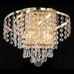 "Belenus Collection 2-Light 12"" Gold Wall Sconce with Clear Royal Cut Crystal ECA4W12G/RC"