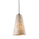 "Capri Collection 1-Light 11"" Mosaic Cappa Shell Mini Pendant 10142/1"