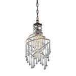 "Elise Collection 1-Light 17"" Rust Mini Crystal Chandelier 12002/1"