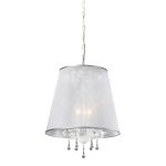 "Roxanna Collection Antique White 3-Light 18"" Chandelier 18099/3"