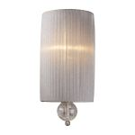 "Alexis Collection 1-Light 15"" Antique Silver Wall Sconce with Blown Crackled Glass 20005/1"