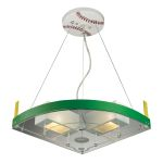 Kid's Lighting Novelty Collection 2-Light 16'' Baseball Field Hanging Pendant 21013/2