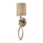 "Estonia Collection Aged Silver 1-Light 5"" Wall Sconce 31120/1"