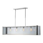 "Parameters Collection 4-Light 47"" Polished Nickel Linear Pendant with Clear Glass 31213/4"