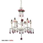 "Mary-Kate and Ashley Rosavita Series 5-Light 21"" Antique White Crystal Mini Chandelier 4054/5"